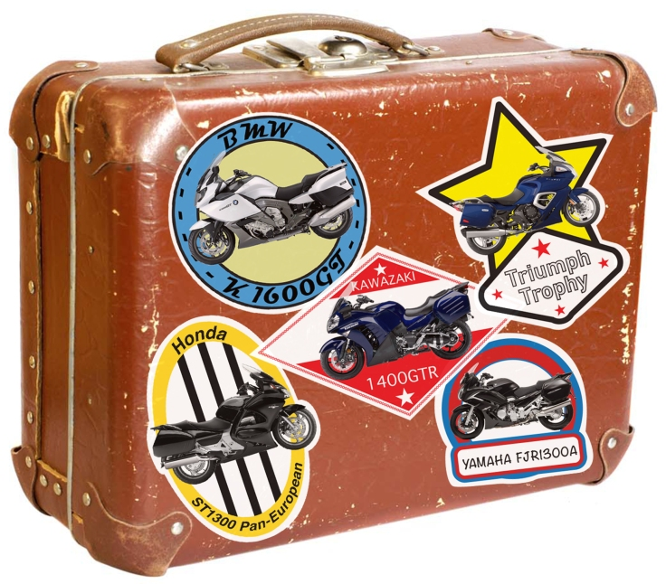 suitcase bike stickers